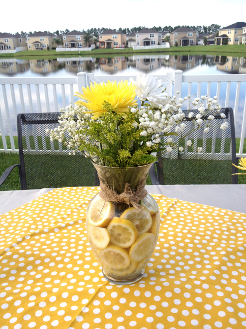 DIY Lemon Slices Flower Arrangment