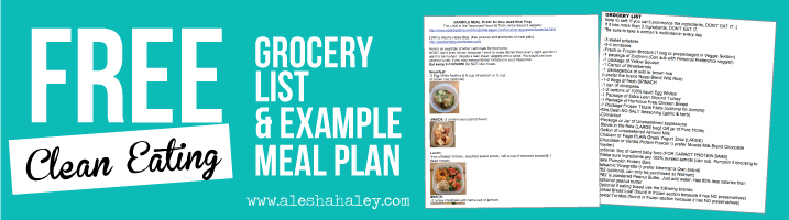 Free meal plan & workout